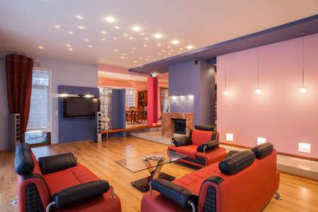sala de estar: Amaranth casa - Interior de la sala original,