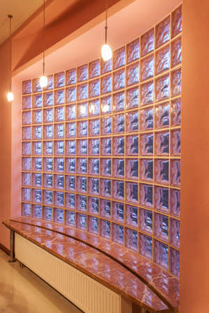 Amaranth house - Vertical view of a glass blocks wall Stock Photo - 17700764