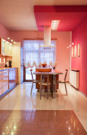 Amaranth house - Kitchen in sweet pink color Stock Photo - 17700724