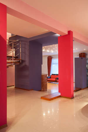 Amaranth house - interior in pink and violet Stock Photo - 17700756