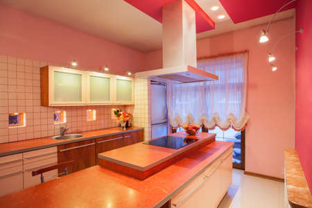 Amaranth house - Kitchen countertop with a cooker Stock Photo - 17700759