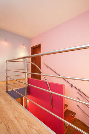 Amaranth house - Staircase with a metal banister Stock Photo - 17700757