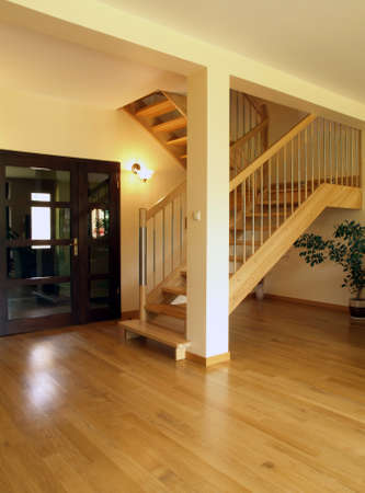 Fasionable stairs in modern house Stock Photo - 17816238