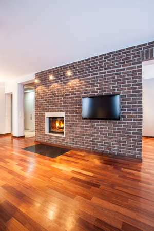 Country home - Brick wall in contemporary living room Stock Photo - 17861573