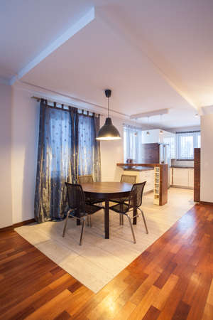 spacious apartment: Country home - interior of dining room, table
