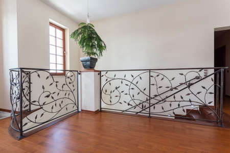 wood carving door: Classy house - Original banister made from metal