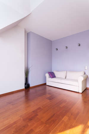 purple living rooms design the interior of the attic in the style of provence stock photo