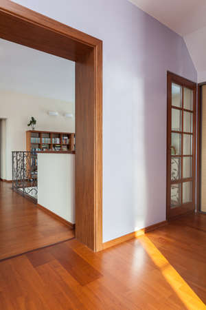 Classy house - Open door with a corridor view Stock Photo - 18055371