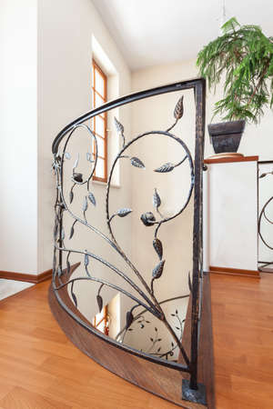Classy house - Elegant, metal and patterned banister Stock Photo - 18122576