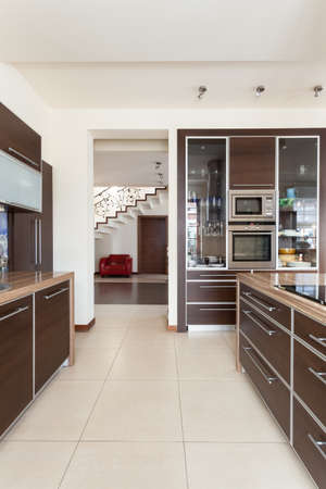 classy house: Classy house - view from a contemporary kitchen