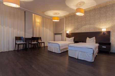 Woodland hotel - Interior of modern and elegant double room Stock Photo - 18264270