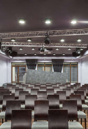 Woodland hotel - Conference hall with arranged seats Stock Photo - 18253501