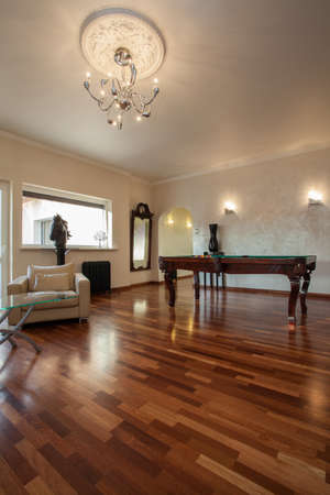 billiards room: Cloudy home - elegant living room with billiard table