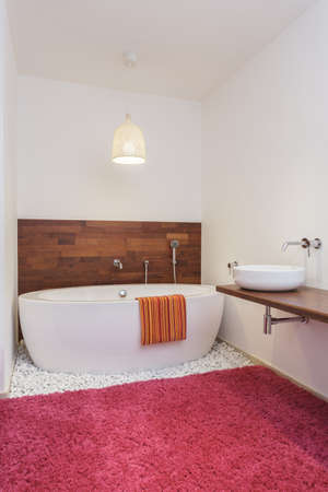 Bath in exotic style bathroom interior photo