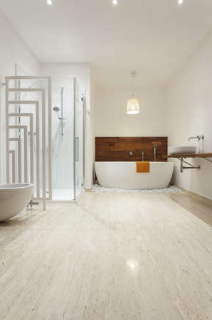 Interior of modern bright bathroom Stock Photo - 18504962
