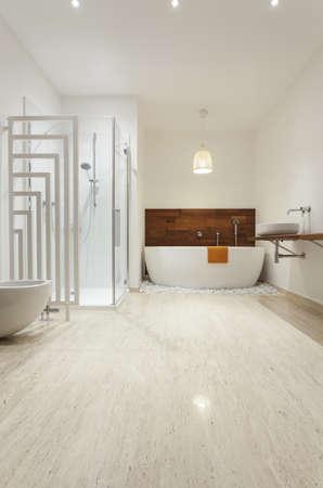 Interior of modern bright bathroom Stock Photo - 18504962