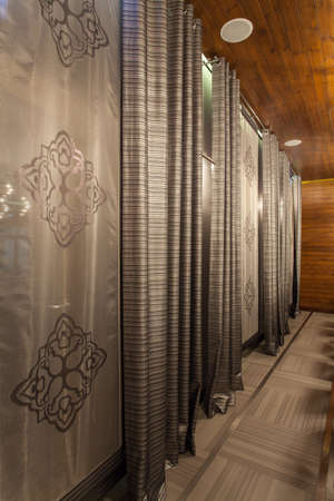Woodland hotel - elegant curtains in luxurious hotel photo