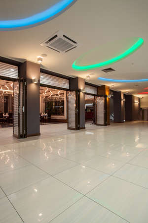 woodland hotel: Woodland hotel - spacious hall and open restaurant