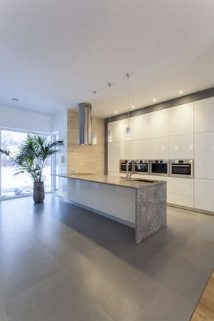 Designers interior - Countertop in modern kitchen interior photo