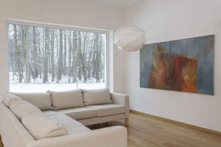 Interior designer - Soggiorno con un dipinto