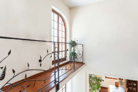 classy house: Classy house - Original metal banister with floral pattern