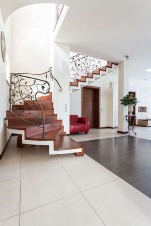 banister: Classy house - interior of modern classic house