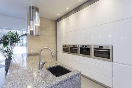 Designers interior - interior of modern minimalist kitchen