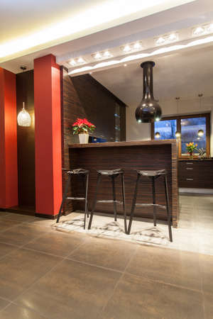 Ruby house - Tall bar stools and counter in kitchen photo