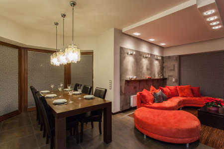 ruby house: Ruby house - Dining room and living room