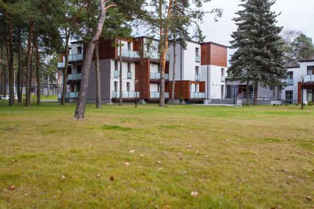 woodland hotel: Woodland hotel - Modern apartments in forest, outdoor view