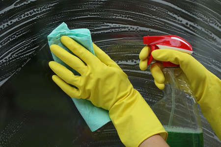 Special cleaner for windows, glass without smudges Stock Photo - 18868565