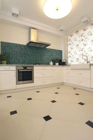 Interior of bright modern and elegant kitchen Stock Photo - 18810138