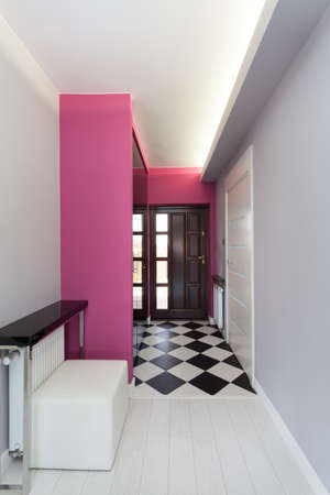Vibrant cottage - main entrance of contemporary house photo