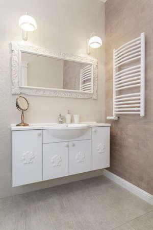 Tuscany - countertop in a bright bathroom Stock Photo - 18857402