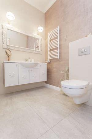 Tuscany - interior of bright toilet room Stock Photo - 18857387