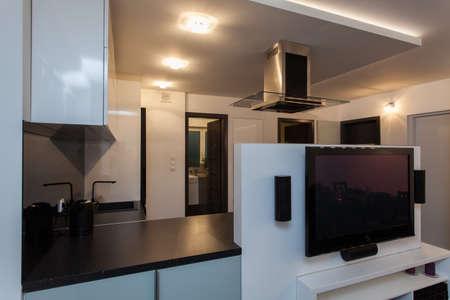 Minimalist apartment - solution of small house interior Stock Photo - 18857438