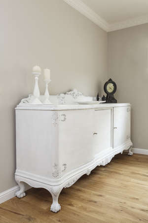 Tuscany - closeup of white classic commode photo