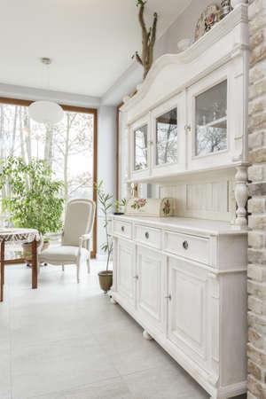 Tuscany - white kitchen commode, classic style