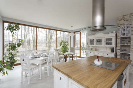 Tuscany - bright interior of vintage kitchen