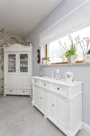 Tuscany - closeup of a white furniture Stock Photo - 18918203