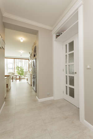 Tuscany - corridor in beige stylish house photo