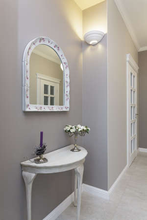 Tuscany - grey corridor in classic style