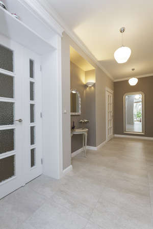 Tuscany - hallway in luxury house Stock Photo