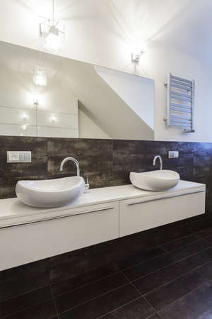 Grand design - white bathroom counter photo