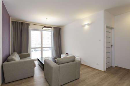 chambre luxe: Cosy appartement - salon lumineux avec d�coration violette sur le mur