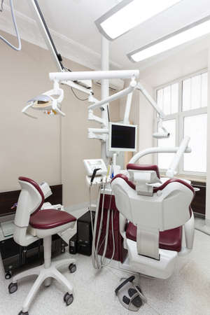 Special dentist equipment in his office, vertical photo