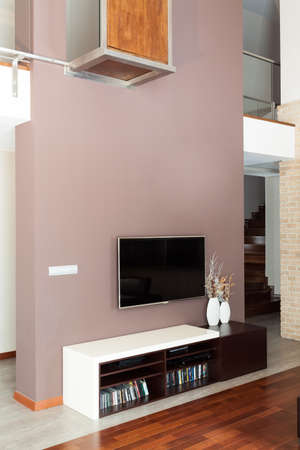 Grand design - Living room with tv Stock Photo - 19376562
