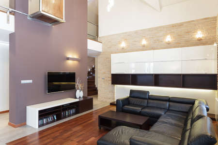 Grand design - Living room in modern style photo
