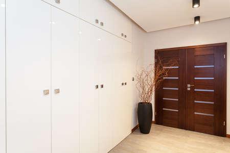 Grand design - main hall with door and wardrobe Stock Photo