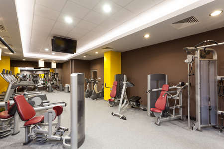 health facilities: Contemporary gym interior with a special equipment Stock Photo